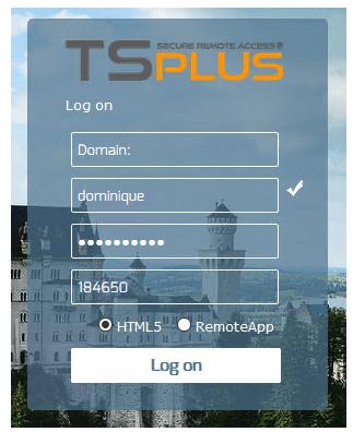 2Fa TSplus